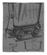 Grunge Mine Trolley Patent Fleece Blanket