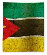 Grunge Mozambique Flag Fleece Blanket
