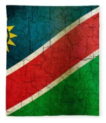 Grunge Namibia Flag Fleece Blanket