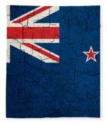 Grunge New Zealand Flag Fleece Blanket