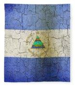 Grunge Nicaragua Flag Fleece Blanket