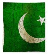 Grunge Pakistan Flag Fleece Blanket