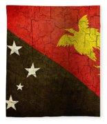 Grunge Papua New Guinea Flag Fleece Blanket