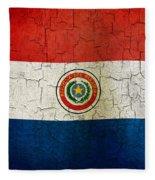 Grunge Paraguay Flag Fleece Blanket
