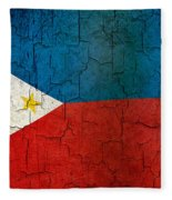 Grunge Philippines Flag Fleece Blanket