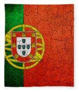 Grunge Portugal Flag Fleece Blanket