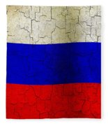 Grunge Russia Flag Fleece Blanket