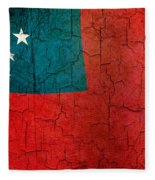 Grunge Samoa Flag Fleece Blanket