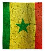 Grunge Senegal Flag Fleece Blanket