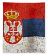 Grunge Serbia Flag Fleece Blanket