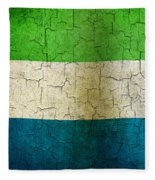 Grunge Sierra Leone Flag Fleece Blanket