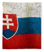 Grunge Slovakia Flag Fleece Blanket