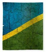 Grunge Solomon Islands Flag Fleece Blanket