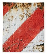 Grunge Stripe Background Fleece Blanket