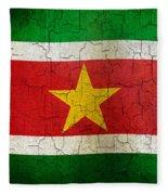 Grunge Suriname Flag Fleece Blanket