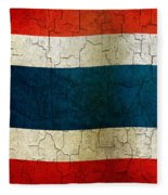 Grunge Thailand Flag Fleece Blanket