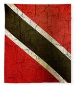 Grunge Trinidad And Tobago Flag Fleece Blanket