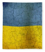 Grunge Ukraine Flag Fleece Blanket