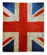 Grunge Union Flag Fleece Blanket