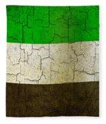 Grunge United Arab Emirates Flag Fleece Blanket