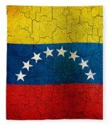 Grunge Venezuela Flag Fleece Blanket