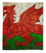 Grunge Wales Flag Fleece Blanket