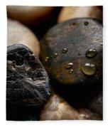 Rocks And Drops Fleece Blanket