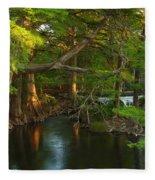Guadalupe River 2am-115627 Fleece Blanket