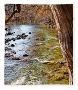 Guadalupe River View Fleece Blanket