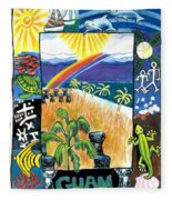Guam Fleece Blanket