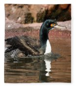 Guanay Cormorant Fleece Blanket