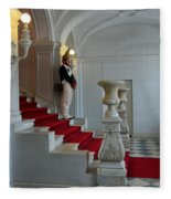 Guard At Catherine Palace In Russia Fleece Blanket