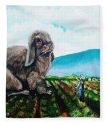 Guard The Carrots Fleece Blanket