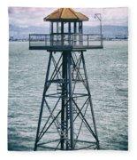 Guard Tower Alcatraz Fleece Blanket