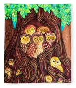 Guardians Of The Forest Fleece Blanket
