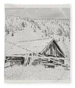 Guarding Grandpa's Cabin Fleece Blanket