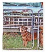 Guarding The Ford Fleece Blanket
