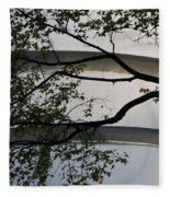 Guggenheim And Trees Fleece Blanket