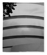 Guggenheim In The Round In Black And White Fleece Blanket