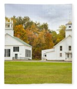 Guildhall Village Historic District In Autumn Vermont Fleece Blanket