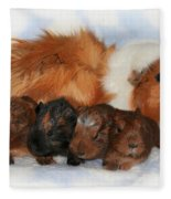 Guinea Pig Family Fleece Blanket