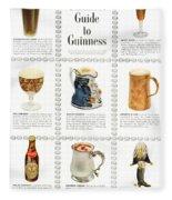 Guinness Guide To Guinness Fleece Blanket by Georgia Fowler