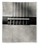 Guitar Abstract In Monochrome Fleece Blanket