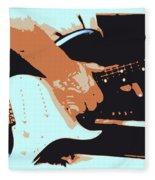 Guitar And Man Fleece Blanket