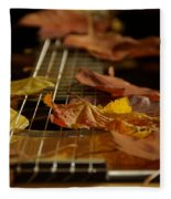 Guitar Autumn 2 Fleece Blanket
