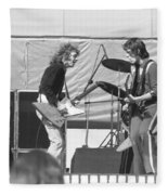 Guitar Interplay At The Day On The Green 6-6-76 Fleece Blanket