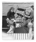 Guitar Jam At Day On The Green In Oakland 1976 Fleece Blanket