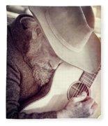 Guitar Man Fleece Blanket