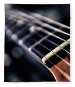 Guitar Strings Fleece Blanket