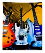 Guitar Trio Fleece Blanket